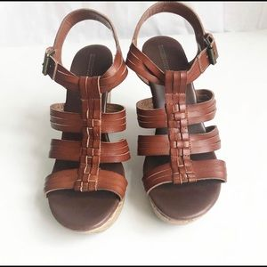 Mossimo Supply Co. brown 4 inch wedges